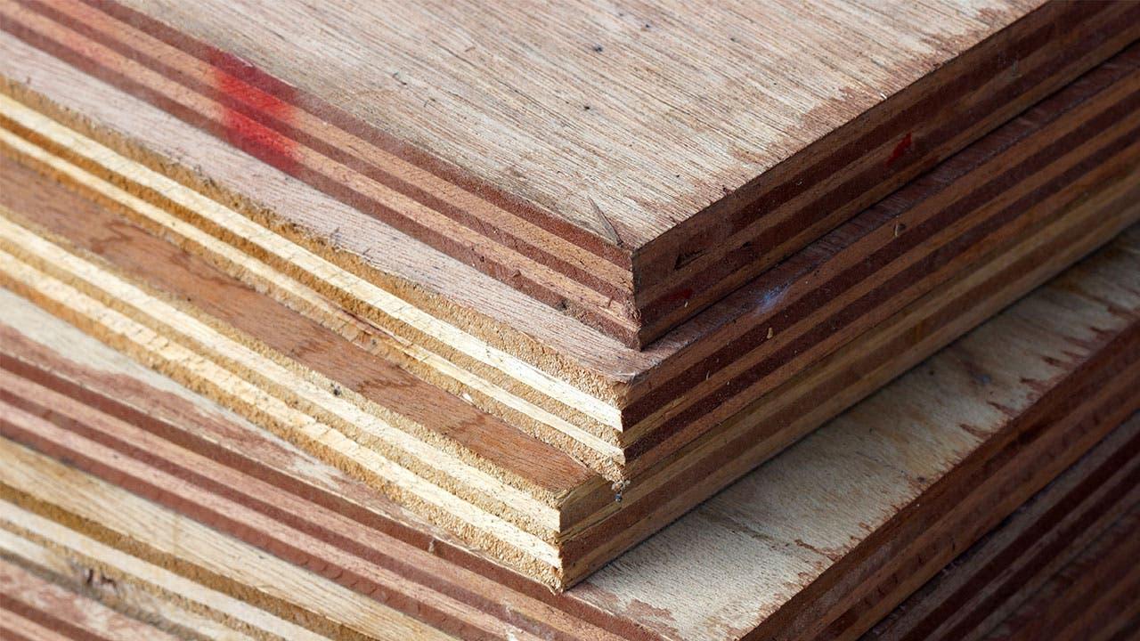 Plywood pile