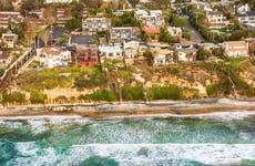 California coast with houses