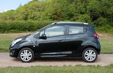 Black compact car
