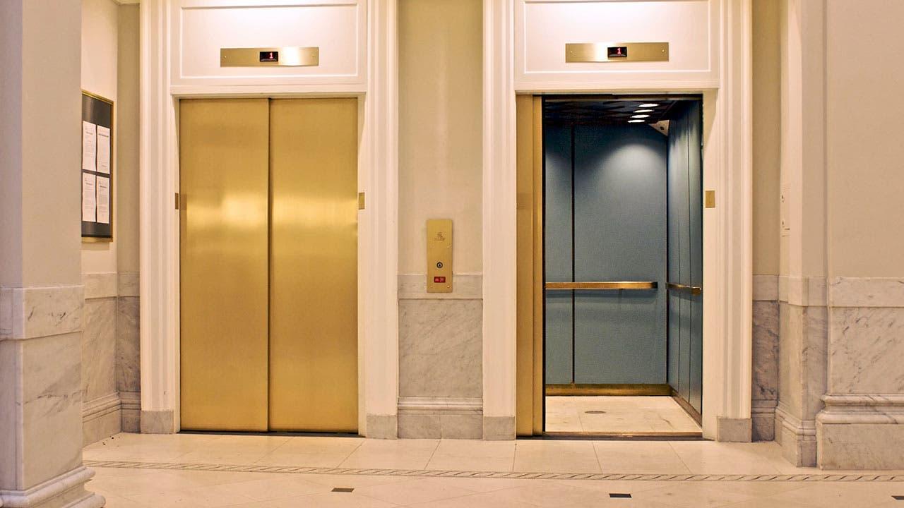 Elevator door opening