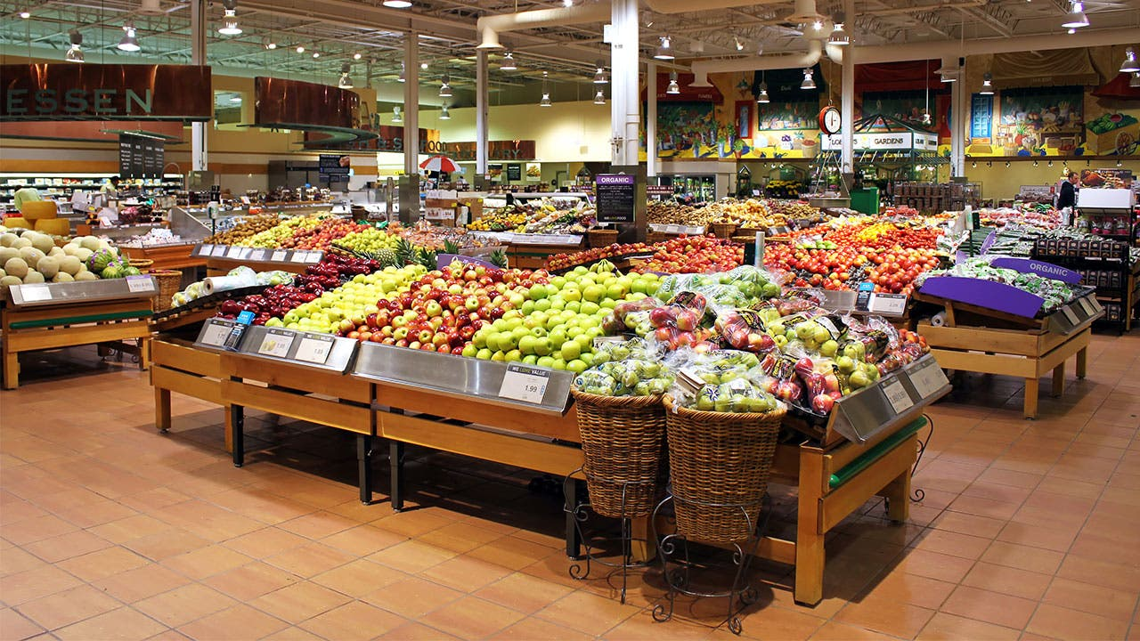 Fruit section of store