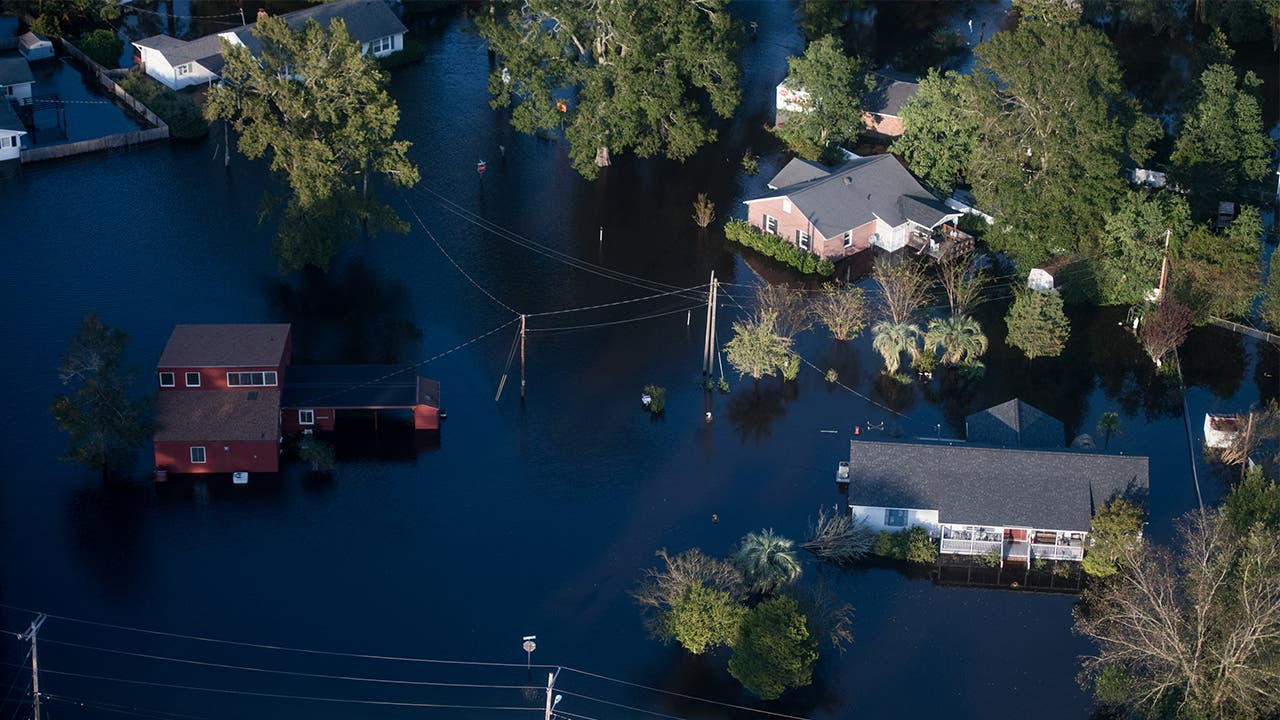 Flood damage from Hurricane Florence