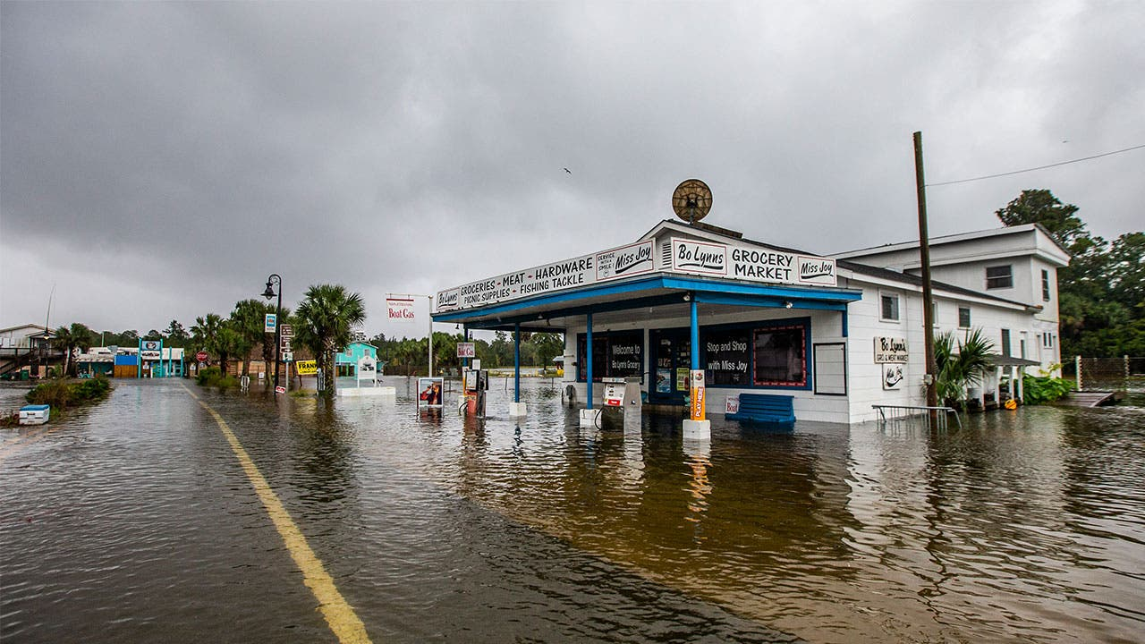 Florida flooding from Hurricane Michael