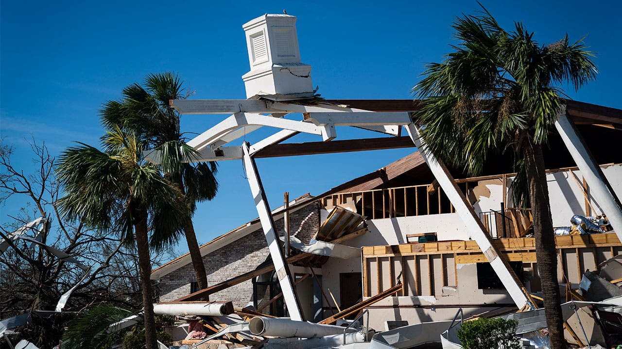 Damaged church in Florida after Hurricane Michael