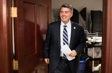 Cory Gardner in Senate building
