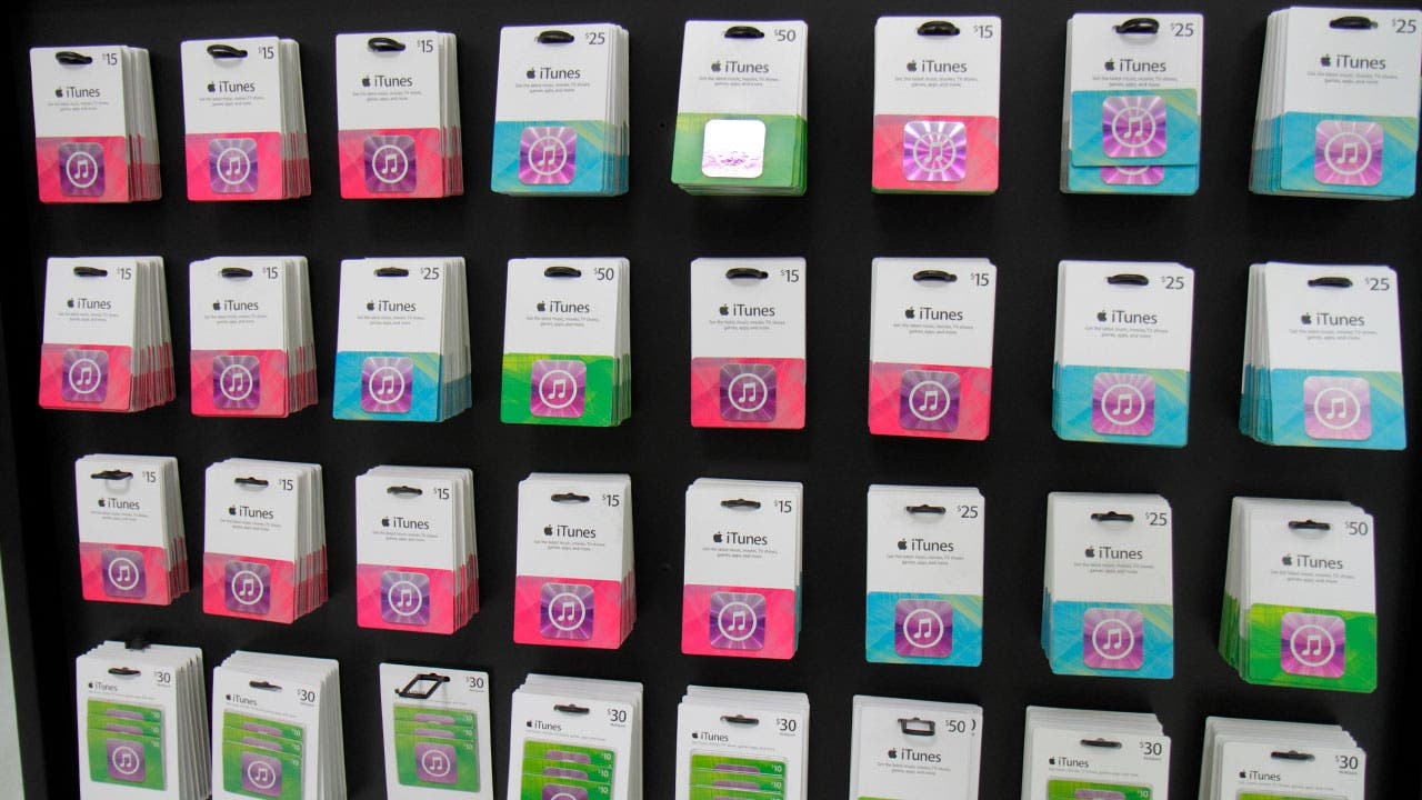 Wall of giftcards