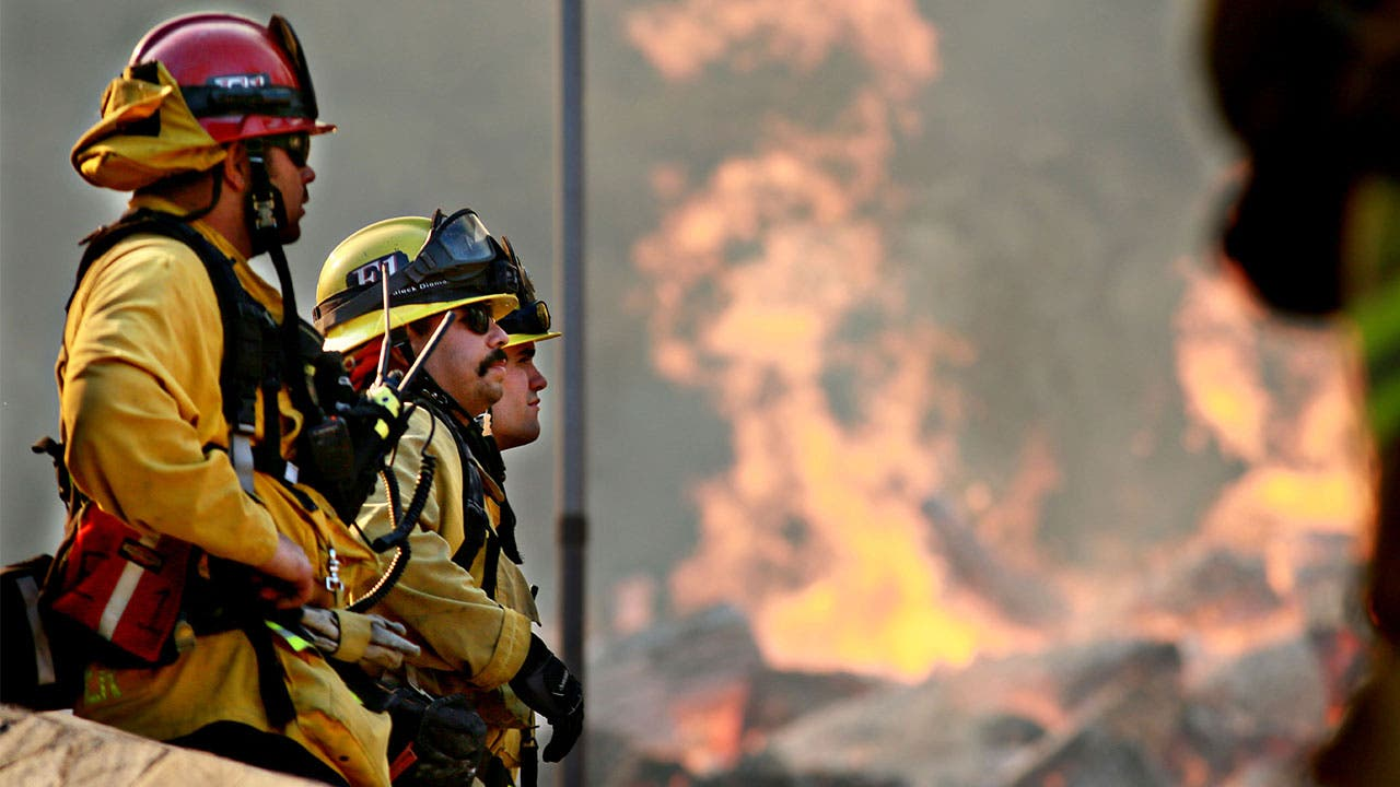 Fire fighters in California