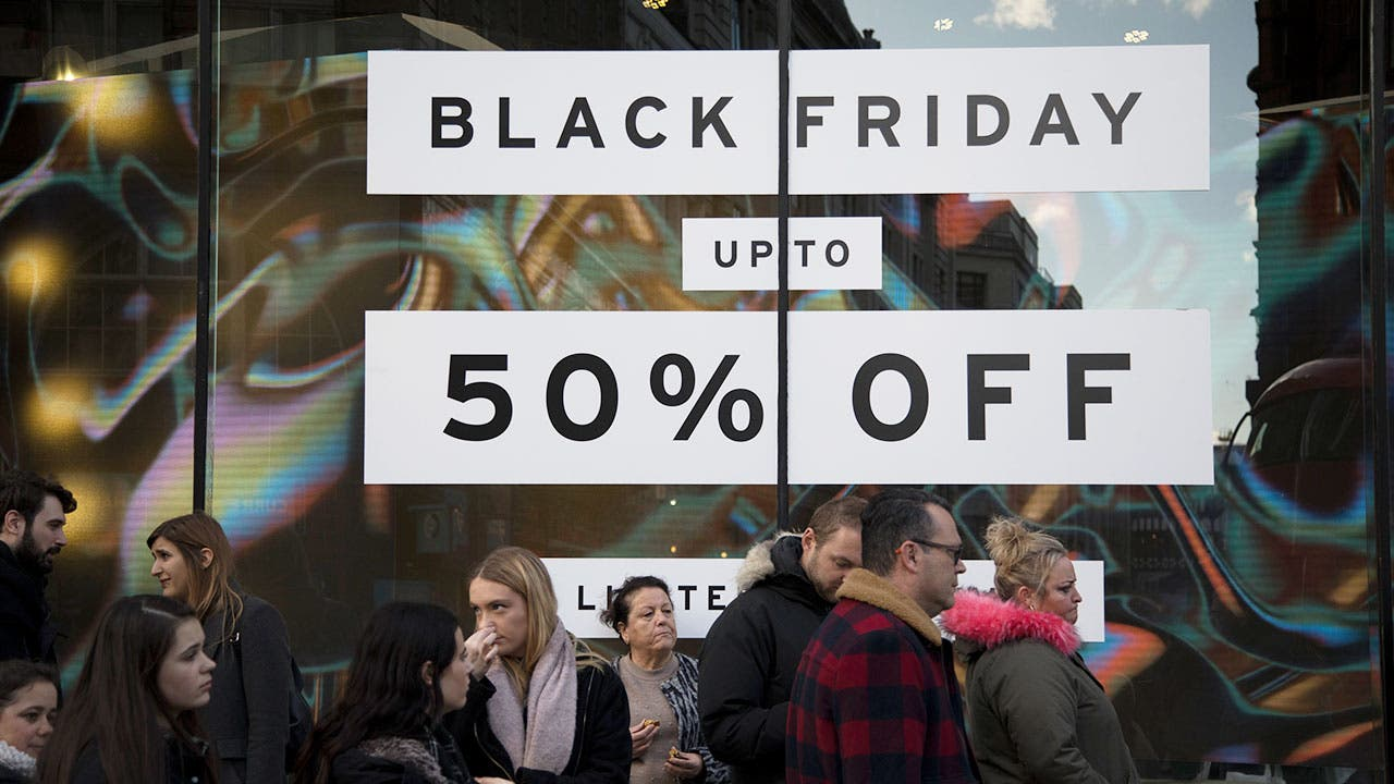Black Friday sale store window