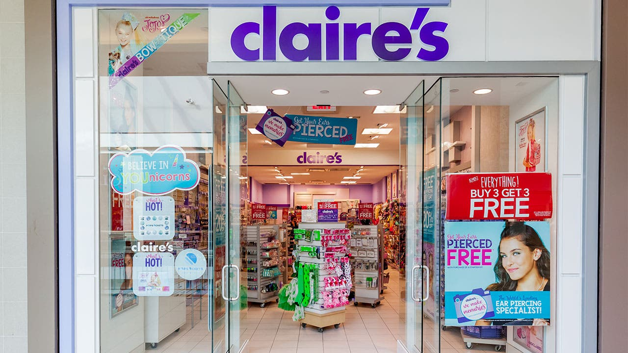 Claire's store in mall