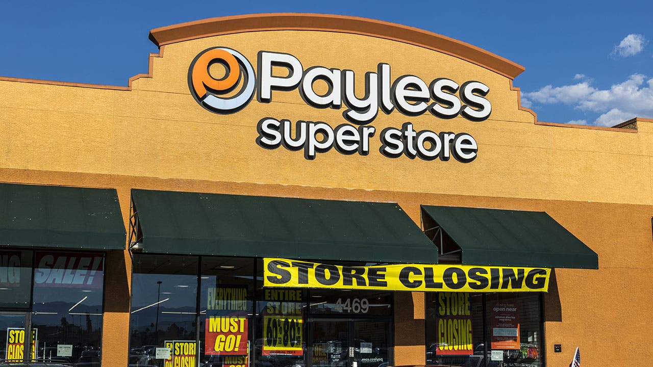 Payless shoe store going out of business