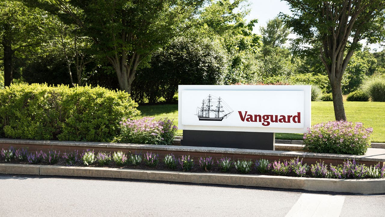 Vanguard headquarters building sign