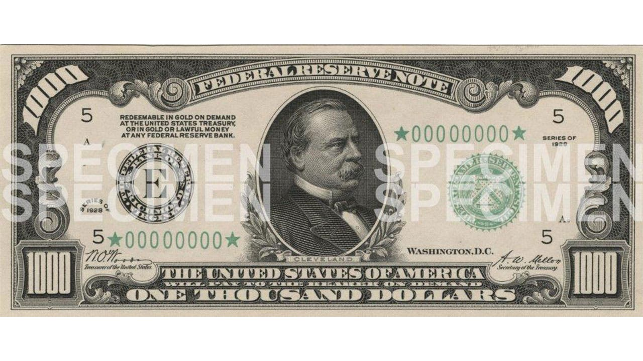photo regarding Fake 1000 Dollar Bill Printable titled Illustrations or photos of Significant Expenditures - $1000, $5000, $10000, $100000