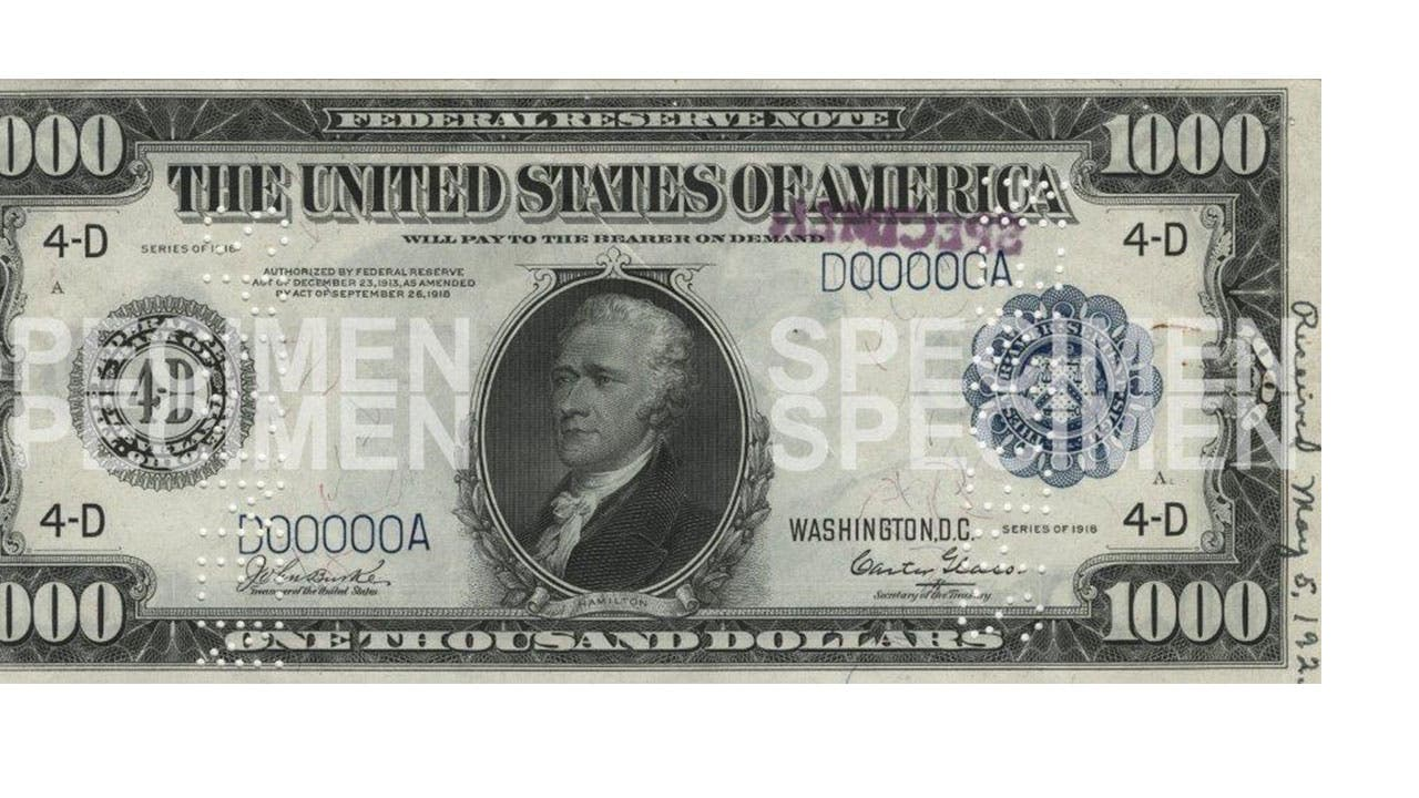 image regarding Fake 1000 Dollar Bill Printable named Photographs of Large Expenditures - $1000, $5000, $10000, $100000