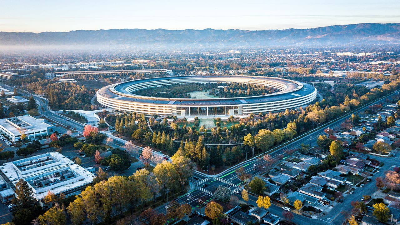 Cupertino aerial view