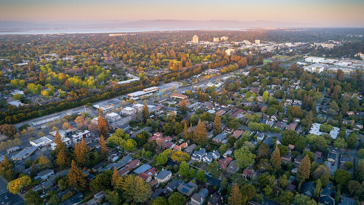 Aerial view of Palo Alto