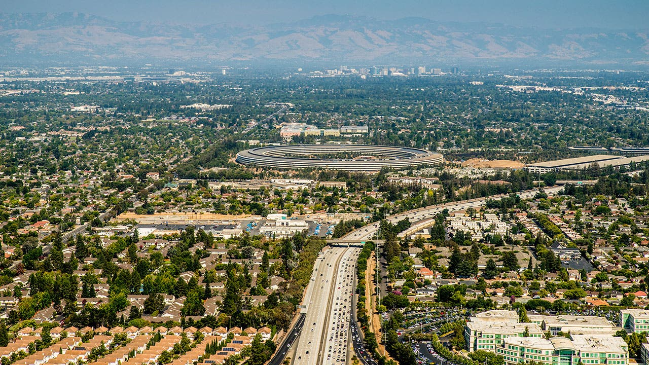 Aerial view of Sunnyvale