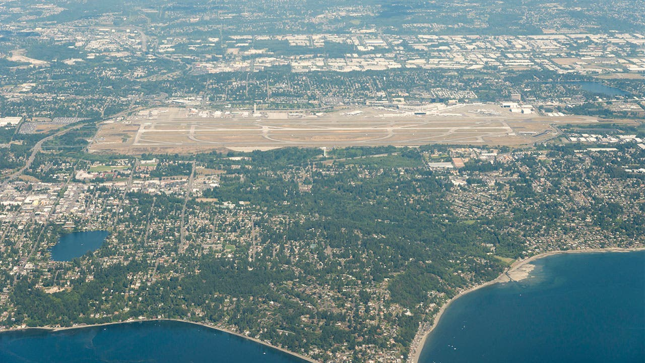SeaTac Airport aerial view