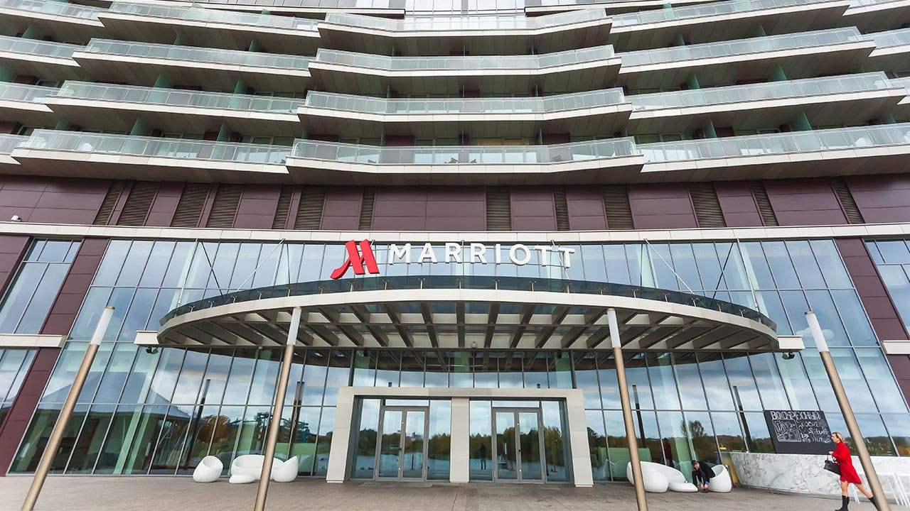 Marriott Hotel facade