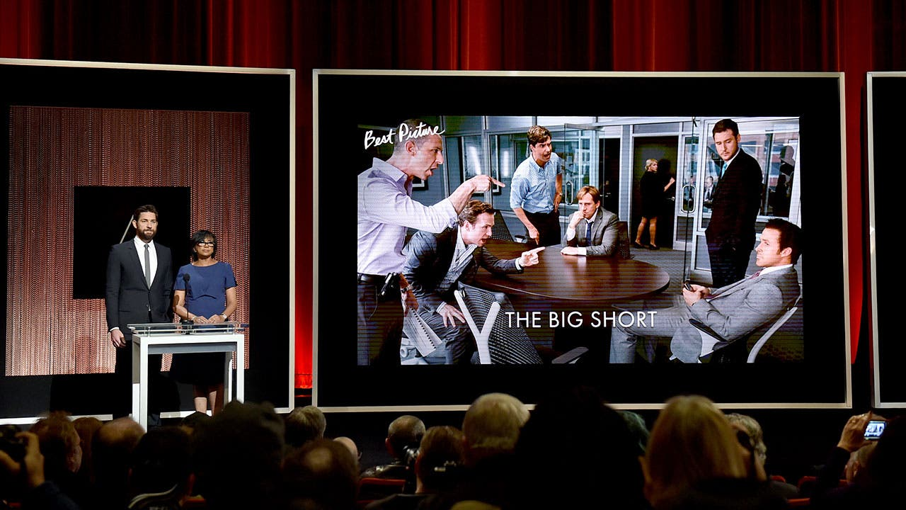 The Oscars presents award for The Big Short