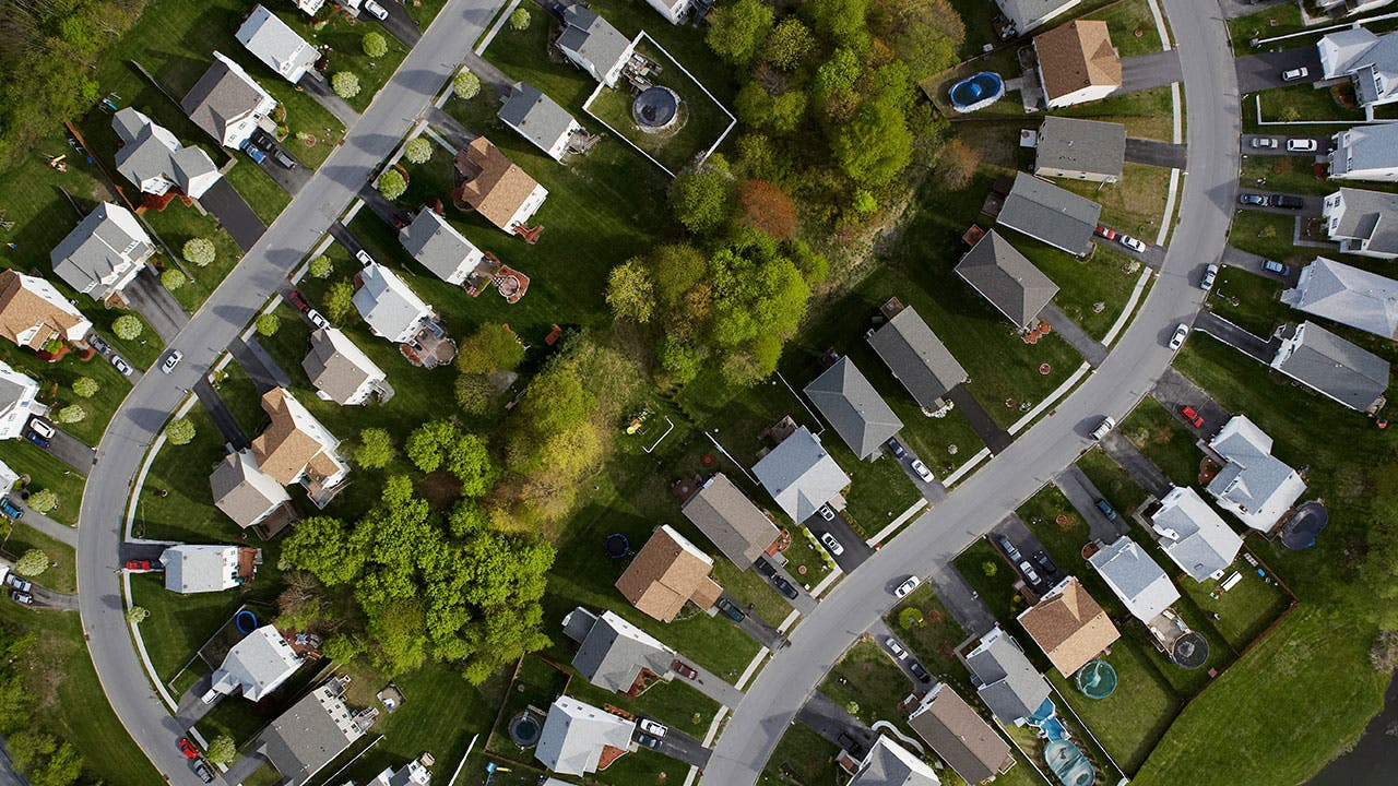 Aerial of neighbhorhood