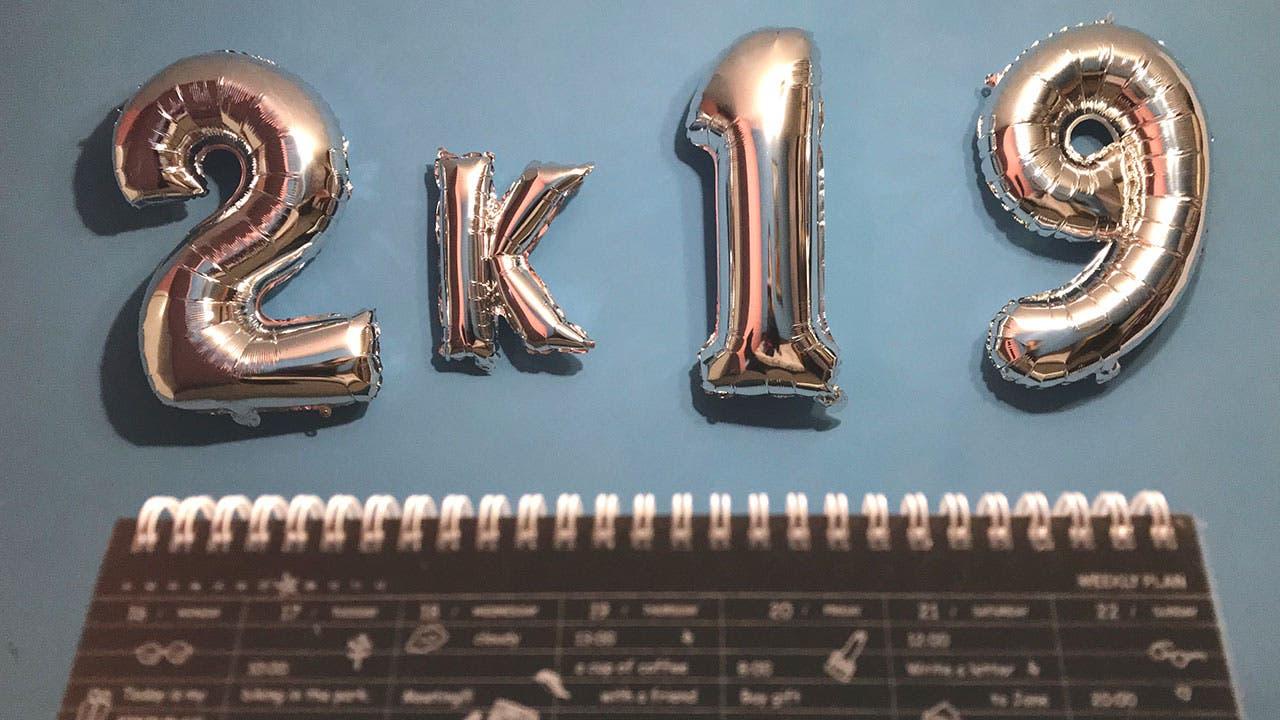 2019 Silver balloons