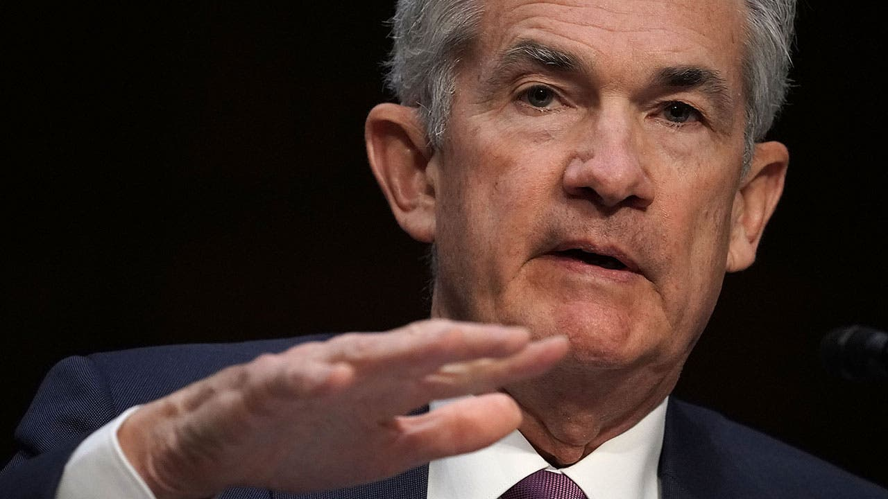 Federal Reserve chair Jerome Powell in chambers