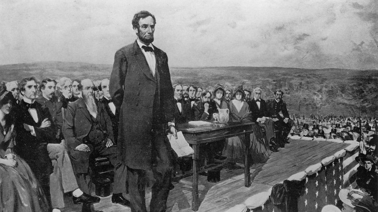 Abraham Lincoln at Gettysburg Address