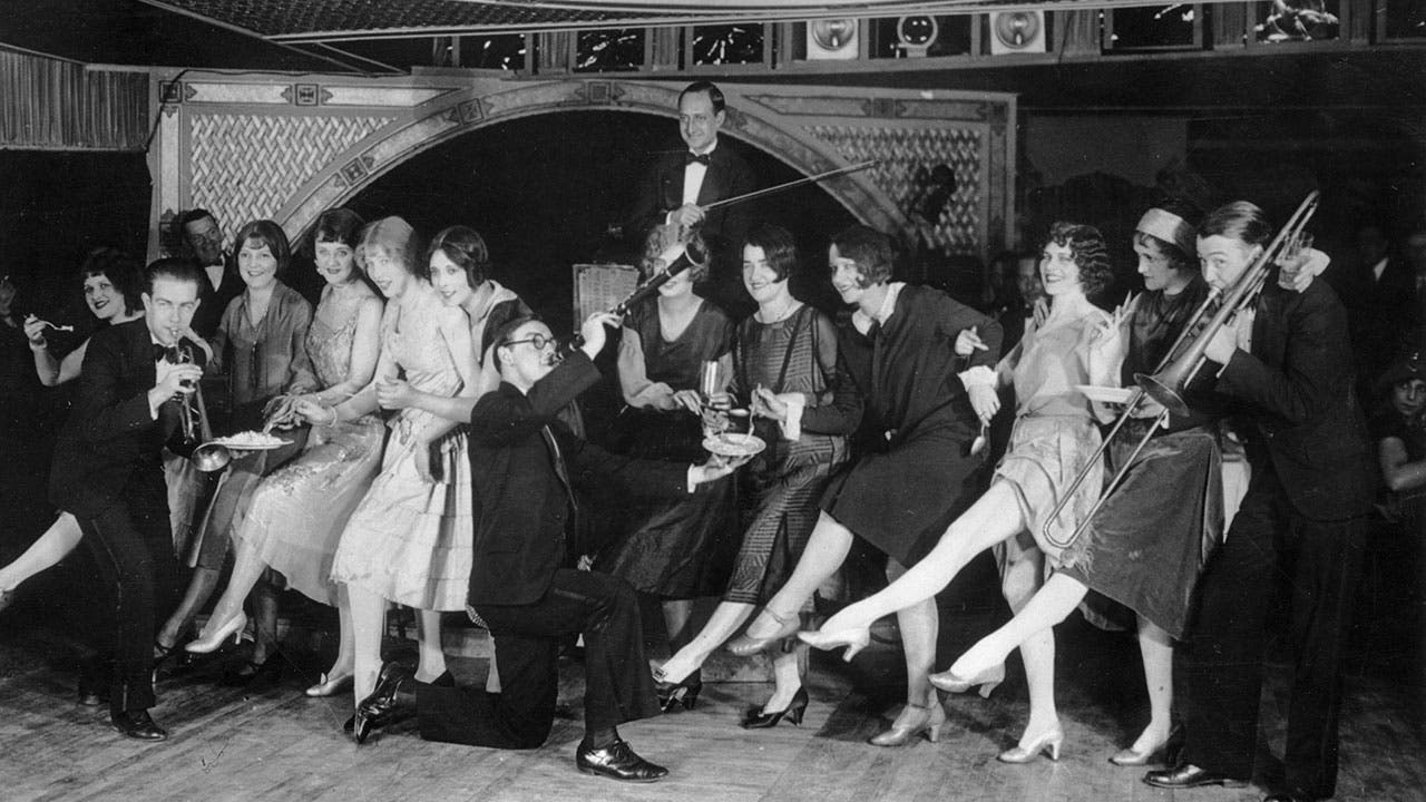 Flappers dancing in a Jazz club