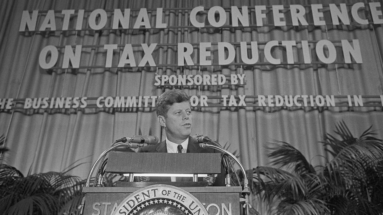 President Kennedy speaking on Tax Reduction