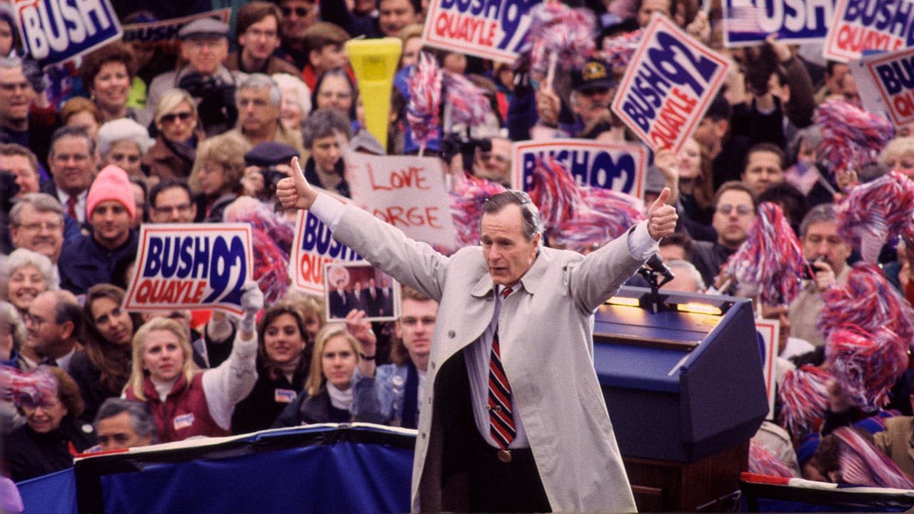 George Bush campaigning