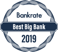 Bankrate's 2019 Best Big Bank Award