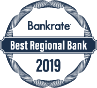 Bankrate's 2019 Best Regional Bank Award