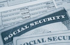 Tax forms and social security cards