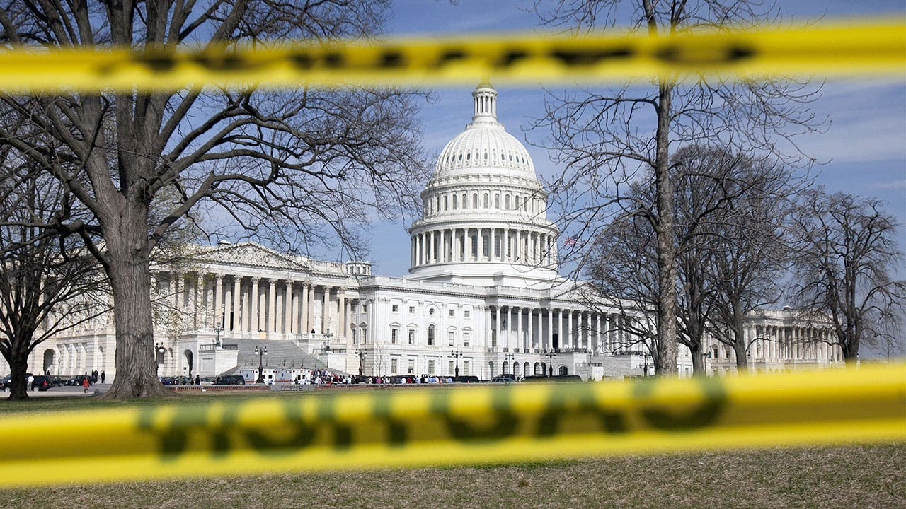 Capitol building during a shutdown