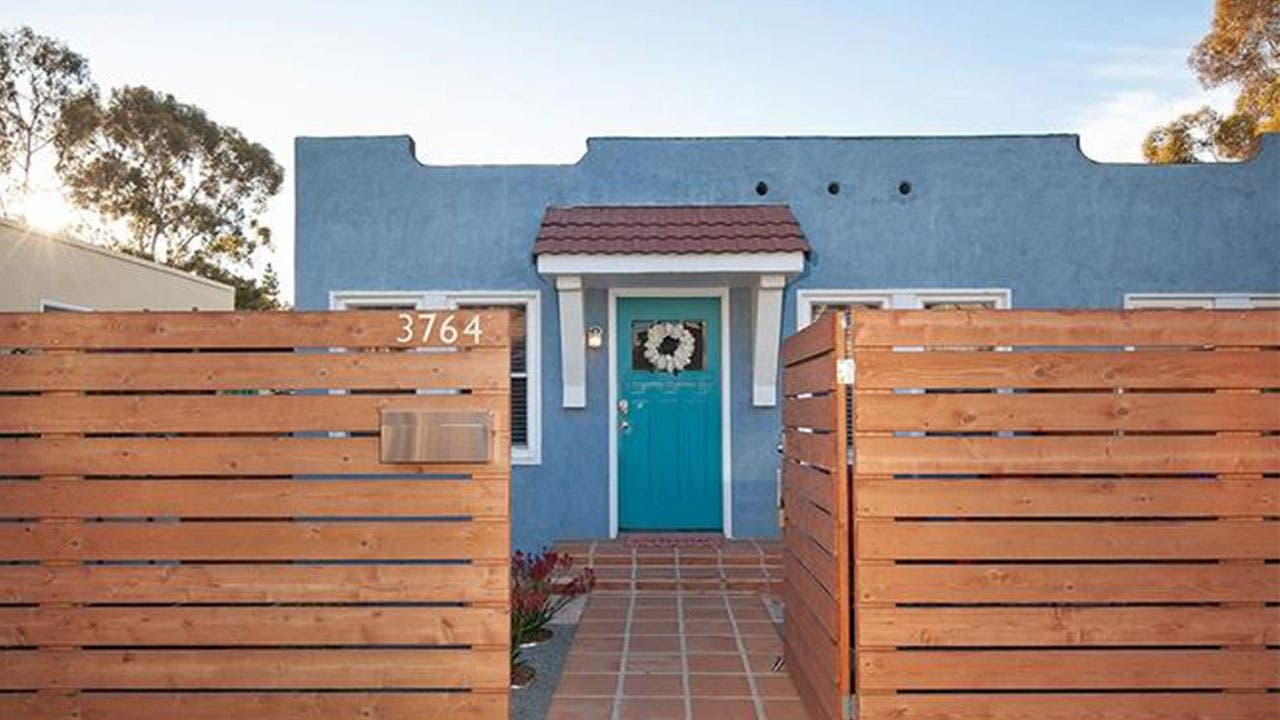 Tiny blue home in San Diego