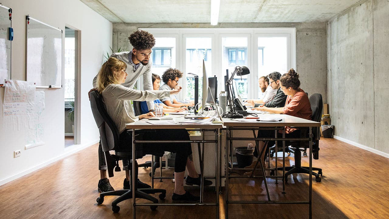 Millennials in open office environment