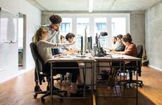 Millennials in open office environment