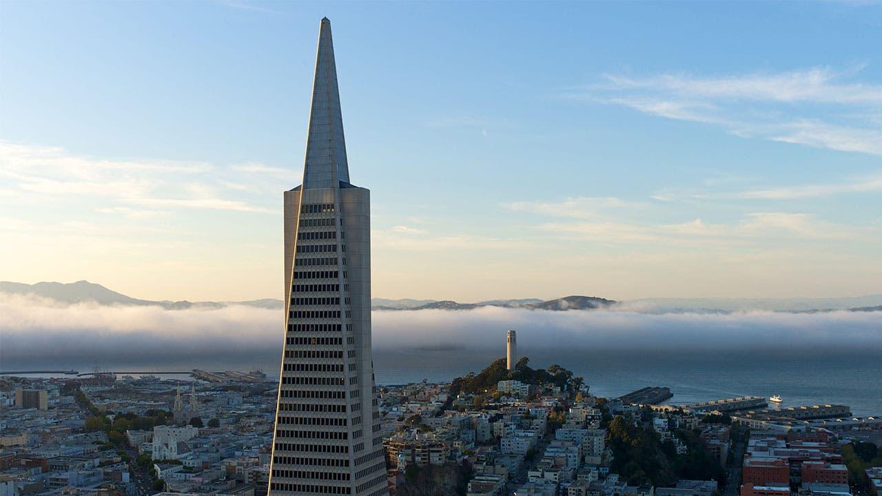 Transamerica pyramid in San Franscisco