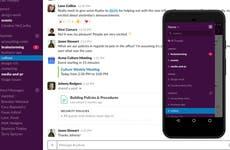 Slack desktop and mobile view