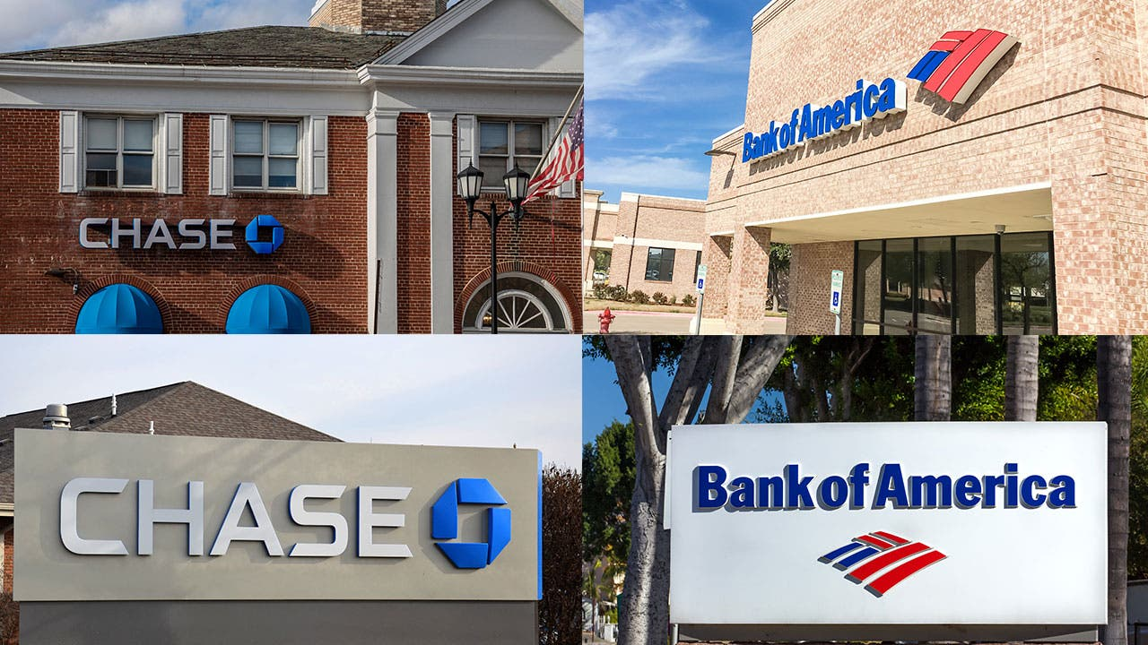 Chase and Bank of America banks