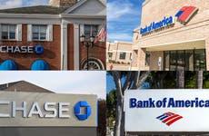 Chase and Bank of America banks