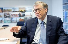 Bill Gates talking in office