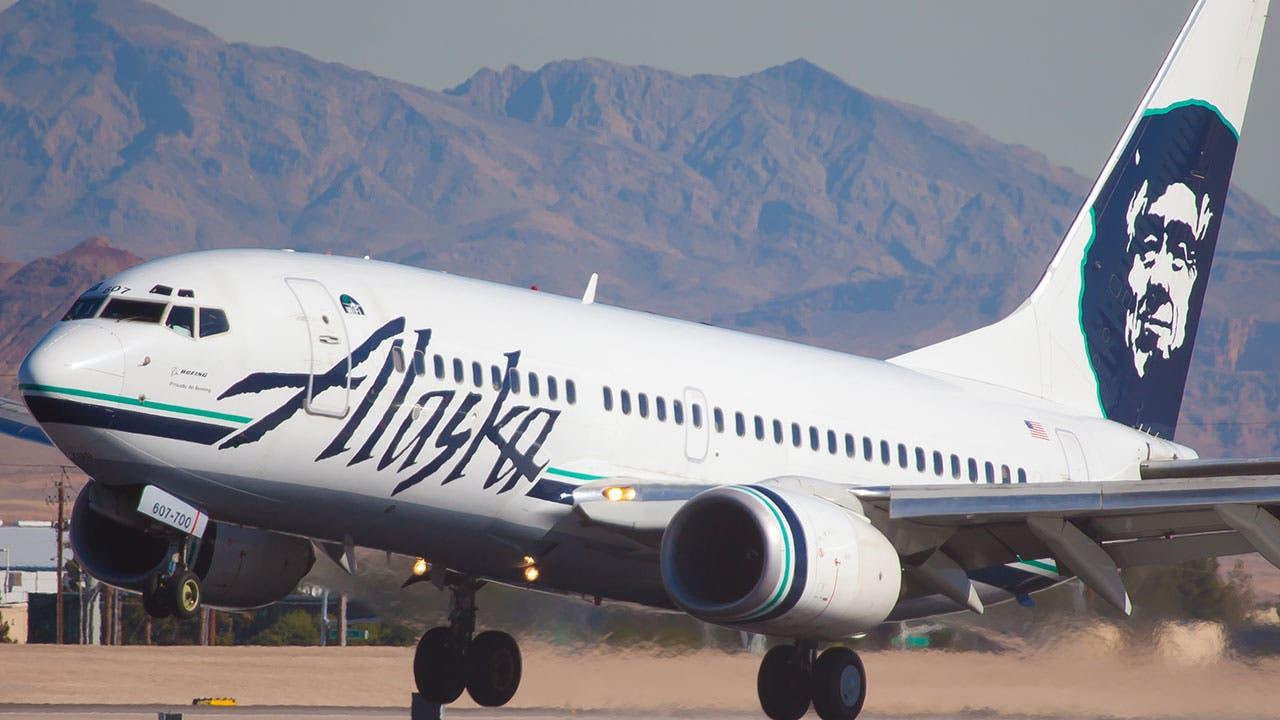 Alaska Airlines plane landing