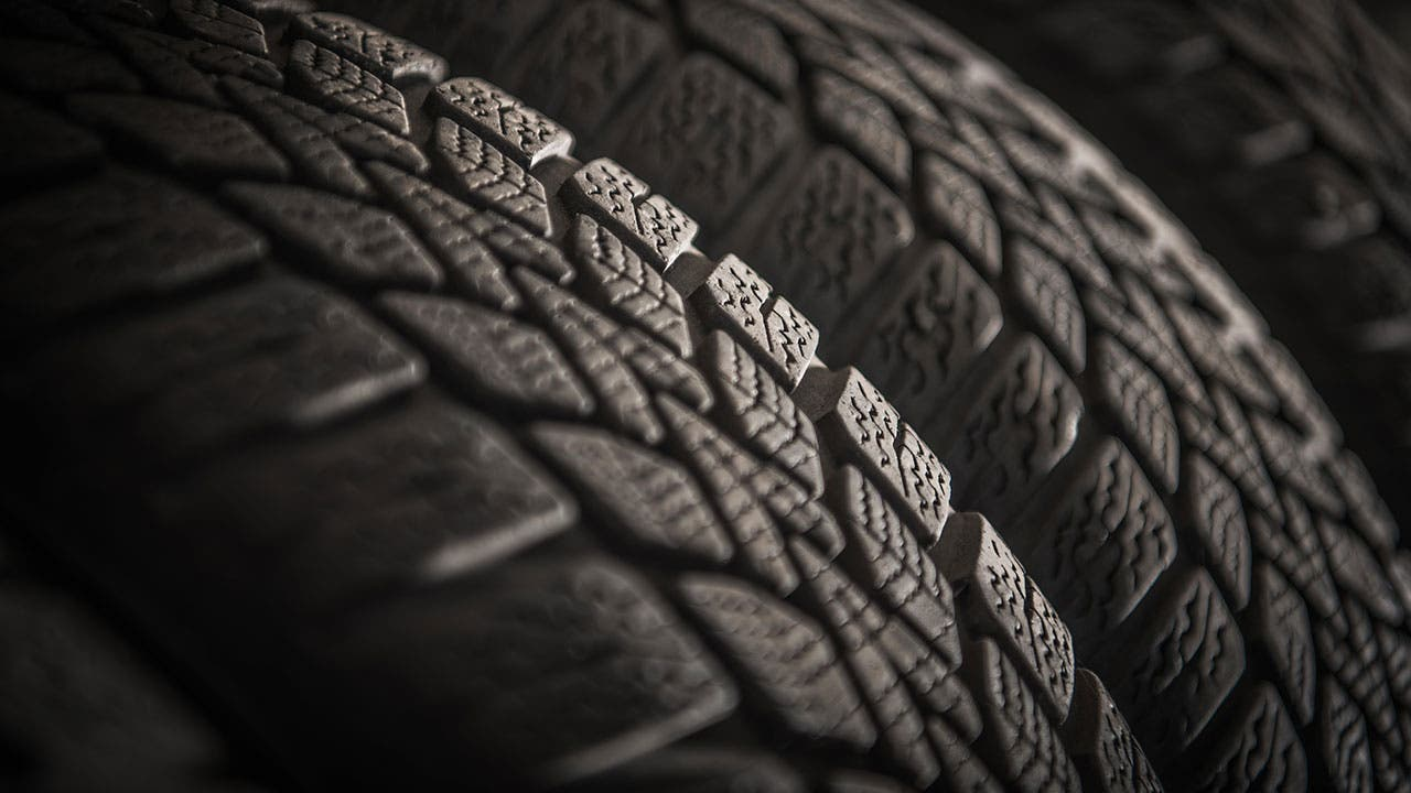 Close up of tires