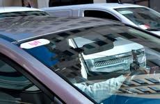Man driving a Lyft car