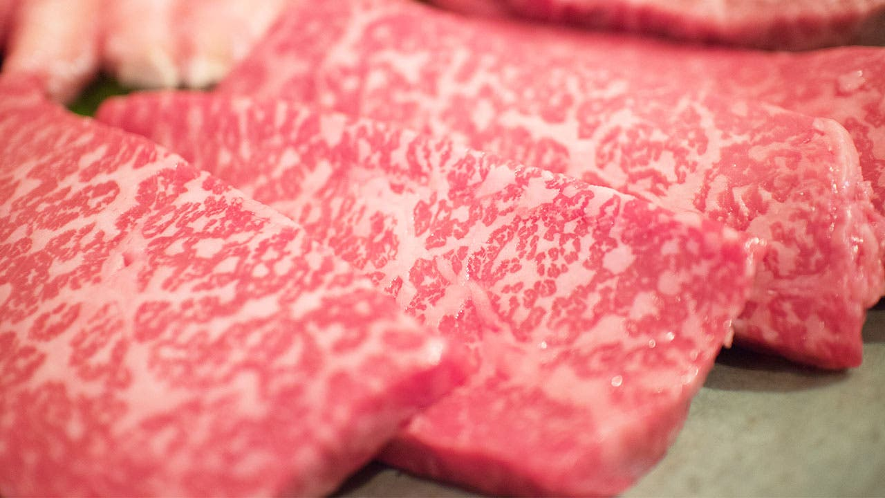 Waygu beef slices