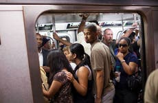 New York subway during rush hour