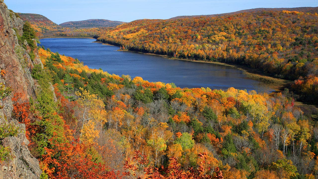 Michigan countryside in the fall