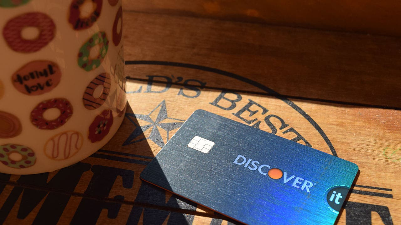 Discover credit card used as payment