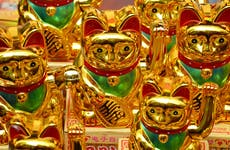 Lucky cats in a store
